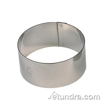 "WOR4742502 - World Cuisine - 47425-02 - 2"" Round Stainless Pastry Rings Product Image"