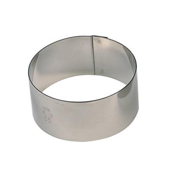 WOR4742502 - World Cuisine - 47425-02 - 2 in Round Stainless Pastry Rings Product Image