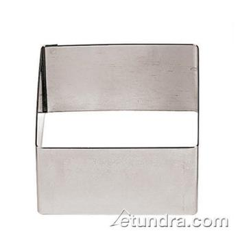 "WOR4742505 - World Cuisine - 47425-05 - 2 3/8"" Square Stainless Pastry Rings Product Image"