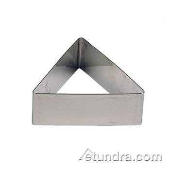 "WOR4742506 - World Cuisine - 47425-06 - 2 3/8"" Triangle Stainless Pastry Rings Product Image"