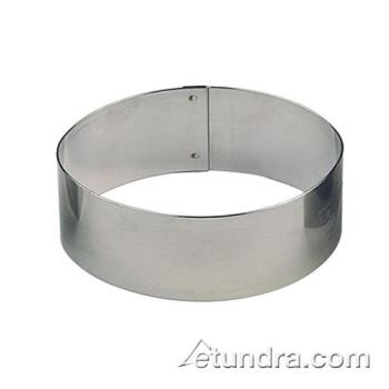 "WOR4742509 - World Cuisine - 47425-09 - 1 7/8"" Oval Stainless Pastry Rings Product Image"