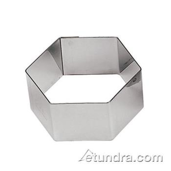 "WOR4742530 - World Cuisine - 47425-30 - 2 3/8"" Hexagon Stainless Pastry Rings Product Image"