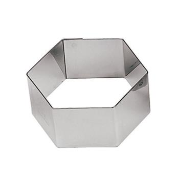 WOR4742530 - World Cuisine - 47425-30 - 2 3/8 in Hexagon Stainless Pastry Rings Product Image