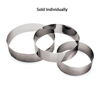 WOR4753428 - World Cuisine - 47534-28 - 11 in x 2 3/8 in Stainless Steel Ice Cake Ring Product Image
