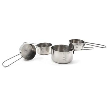 CFS604310 - Carlisle - 604310 - Stainless Steel Chef Series™ Measuring Cup Set Product Image
