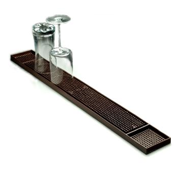 AMMBM23 - American Metalcraft - BM23 - 3 1/4 in x 27 in Brown Bar Mat Product Image