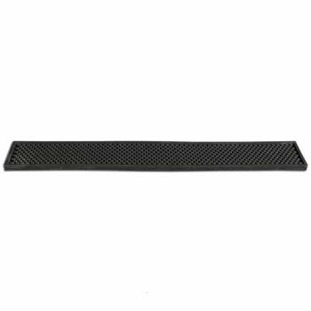 "BARCR753BLK - Bar Maid - CR-753BLK - 24"" Black Bar Rail Mat Product Image"