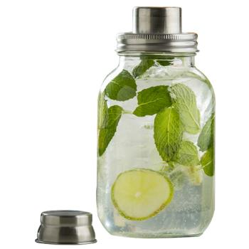99879 - Tablecraft - MJS30 - 30 oz Mason Jar Cocktail Shaker w/ Metal Top Product Image