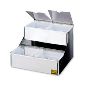 SANB4704INL - San Jamar - B4704INL - 4 Qt Stepped Condiment Service Center Product Image
