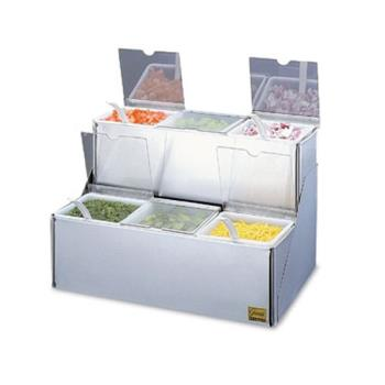 SANB6706INL - San Jamar - B6706INL - EZ-Chill Stepped Condiment Tray Product Image