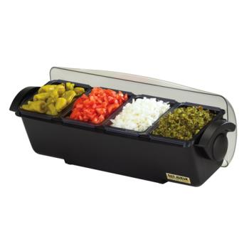 SANBD4014 - San Jamar - BD4014 - 3 qt The Dome® Condiment Center Product Image