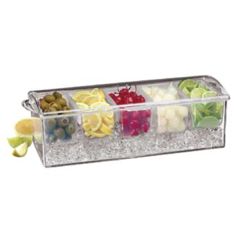 WOR4494703 - World Cuisine - 44947-03 - 4 Section Garnish Center Product Image