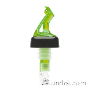 BARBMP5100G - Bar Maid - BMP-5100G - Premium Collared Flip Top 1 oz Green Pourer Product Image