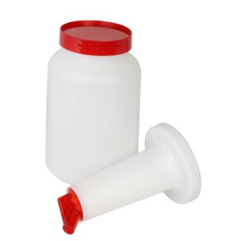 86530 - Thunder Group - PLSNP02R - Storer And Pour 2 qt Red Unit Product Image