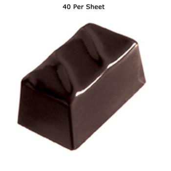 WOR4786046 - World Cuisine - 47860-46 - (40) Polycarb Rippled Rectangle Chocolate Mold Product Image