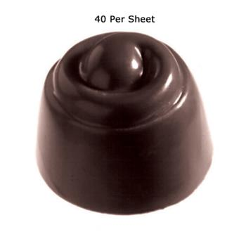 WOR4786049 - World Cuisine - 47860-49 - (40) Polycarb Cherry Cordial Chocolate Mold Product Image