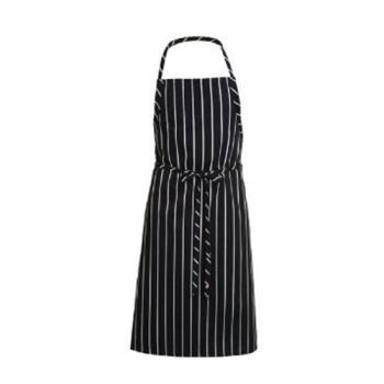 81646 - Chef Works - A100-BCS - Black Chalk Stripe English Chef Apron Product Image