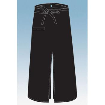 CFWA400BLK - Chef Works - A400-BLK - Black Slit Bistro Apron Product Image