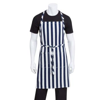 CFWAB033IBL - Chef Works - AB033-IBL - Indigo Blue Chesapeake Bib Apron Product Image