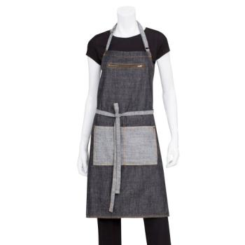 CFWAB034BLK - Chef Works - AB034-BLK - Black Manhattan Bib Apron Product Image
