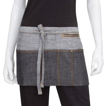 CFWAW047BLK - Chef Works - AW047-BLK - Black Manhattan Waist Apron Product Image