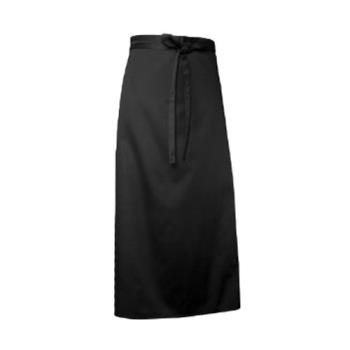 81740 - Chef Works - CFLA-BLK - Black Full Length Chef Apron Product Image