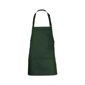 CFWF10HUN - Chef Works - F10-HUN - Hunter Green Three Pocket Apron Product Image