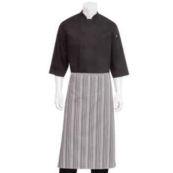 38165 - Chef Works - F24-GGW - White Striped Bistro Apron Product Image