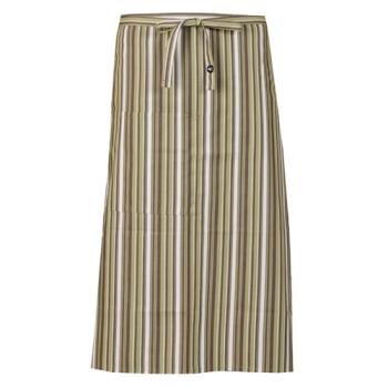 CFWF24LIW - Chef Works - F24-LIW - Lime/White/Brown Striped Bistro Apron Product Image