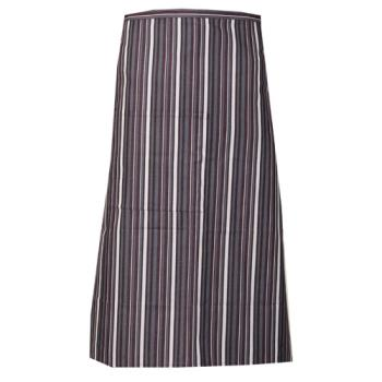81929 - Chef Works - F24-MEG - Merlot/Gray/White Striped Bistro Apron Product Image