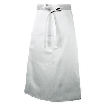 38166 - Chef Works - F24-WHT - White Bistro Apron Product Image