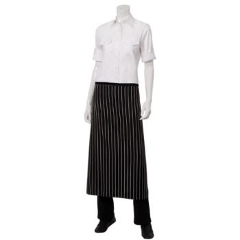 81930 - Chef Works - F24S-BCS - Chalk Stripe Bistro Apron Product Image