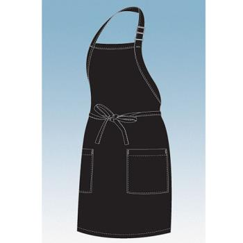 CFWF53BLK - Chef Works - F53-BLK - Black Two Patch Pocket Apron Product Image