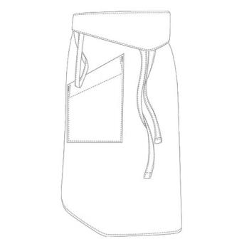 75911 - Chef Works - PCTA - White Tapered Apron Product Image