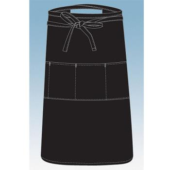 CFWREVF24 - Chef Works - REVF24 - Black Reversible Three Pocket Apron Product Image