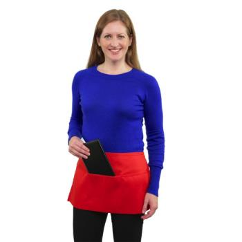 19133 - RDW - A9003R - 3 Pocket Red Waist Apron Product Image