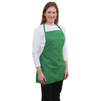 19151 - RDW - A9035KG - 3 Pocket Kelly Green Bib Apron Product Image