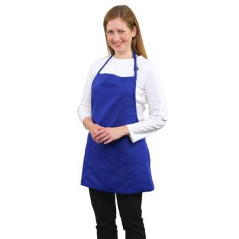 19154 - RDW - A9035RB - 3 Pocket Royal Blue Bib Apron Product Image