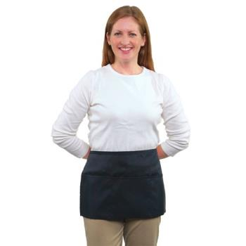 19161 - RDW - B9003N - 3 Pocket Navy Blue Waist Apron Product Image