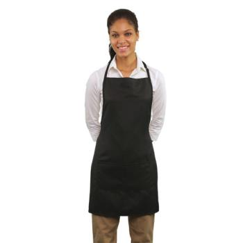 19169 - RDW - B9025B - 2 Pocket Black Bib Apron Product Image
