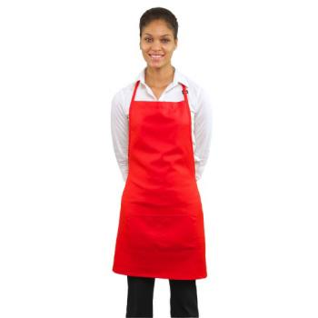 19173 - RDW - B9025R - 2 Pocket Red Bib Apron Product Image