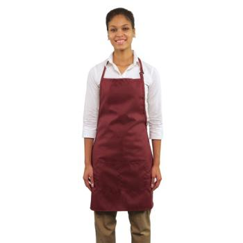 19175 - RDW - B9025WN - 2 Pocket Wine Bib Apron Product Image