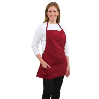 19185 - RDW - B9035WN - 3 Pocket Wine Bib Apron Product Image