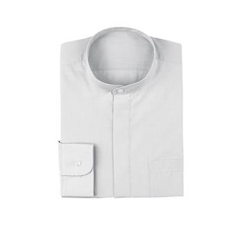 75903 - Chef Works - B100-WHT-L - White Banded-Collar Shirt (L) Product Image
