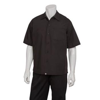 81628 - Chef Works - CSCV-BLK-L - Black Cook Shirt (L) Product Image