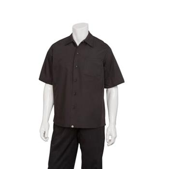 81631 - Chef Works - CSCV-BLK-XL - Black Cook Shirt (XL) Product Image