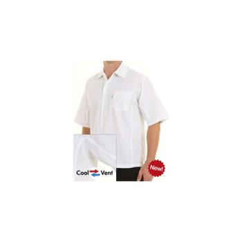 81635 - Chef Works - CSCV-WHT-XL - White Cook Shirt (XL) Product Image