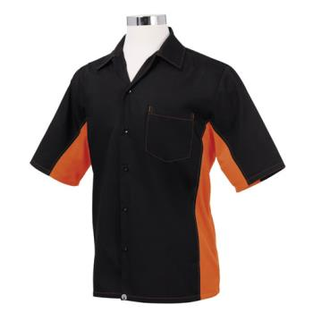 CFWCSMCBLO2XL - Chef Works - CSMC-BLO-2XL - Cool Vent Black/Orange Shirt (2XL) Product Image