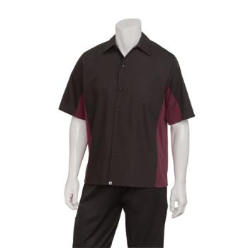 CFWCSMCBME3XL - Chef Works - CSMC-BME-3XL - Cool Vent Black/Merlot Shirt (3XL) Product Image