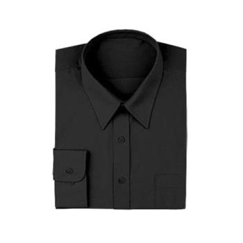 CFWD150BLKM - Chef Works - D150-BLK-M - Black Server Dress Shirt (M) Product Image